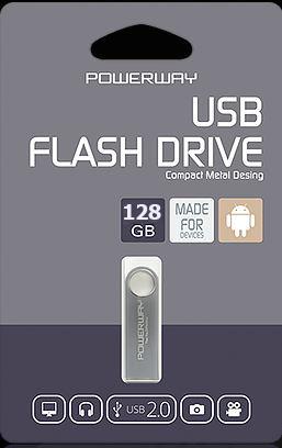 128 GB POWERWAY FLASH BELLEK