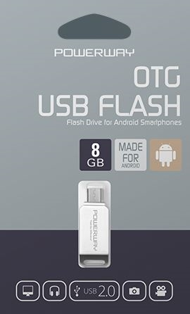 8 GB MİCRO OTG FLASH BELLEK POWERWAY