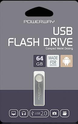 64 GB POWERWAY FLASH BELLEK