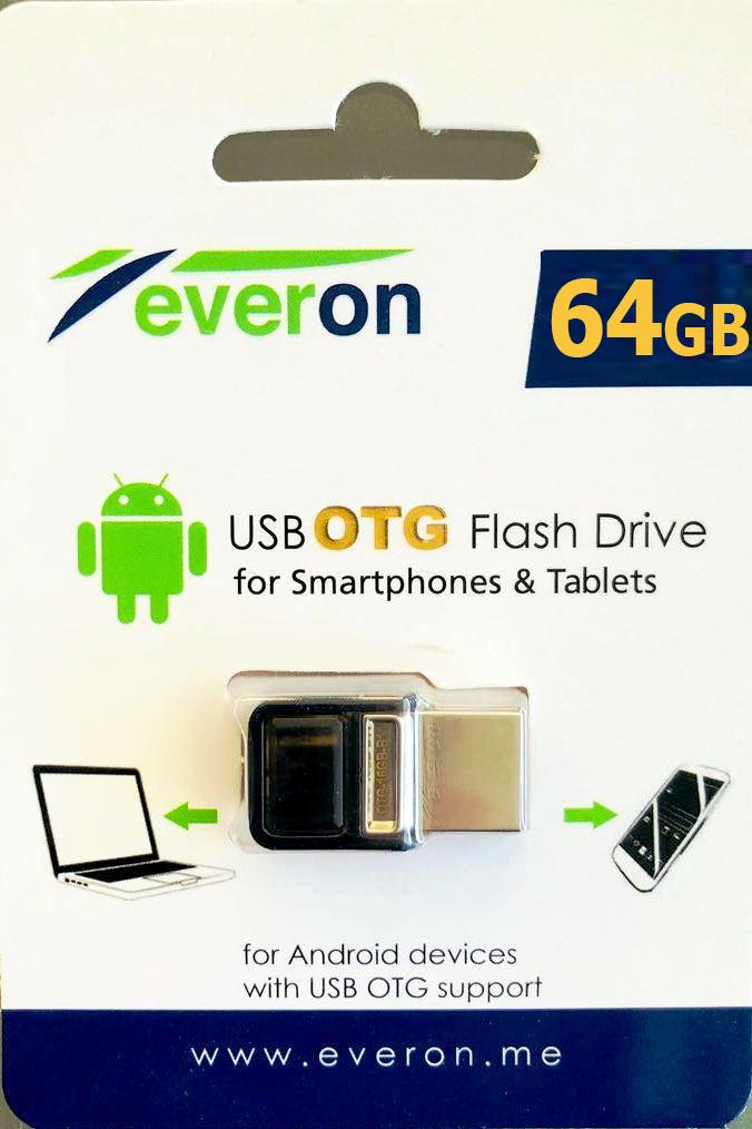 64 GB MİCRO OTG FLASH BELLEK EVERON