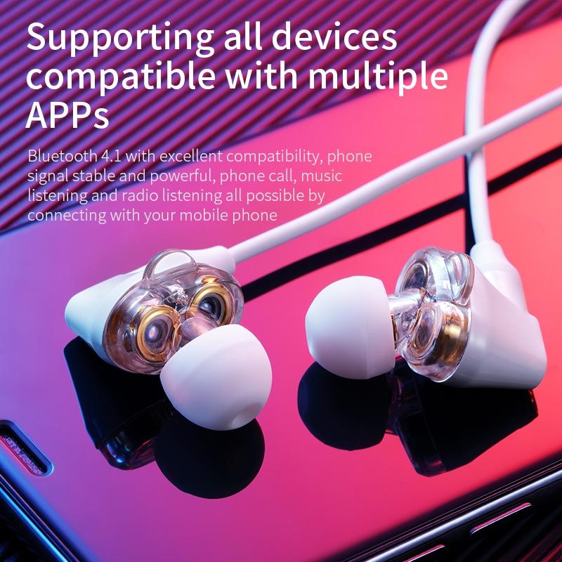 Baseus Encok S10 Dual Dynamic Bluetooth Headset White NGS10-02