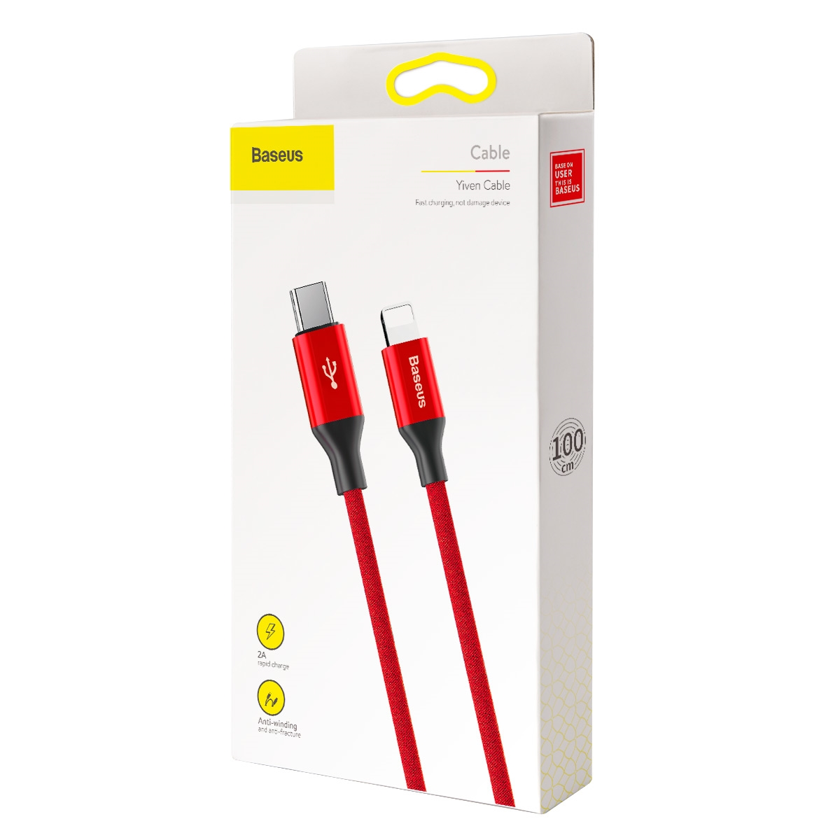 Baseus Yiven Series Type-C to iP Cable 2A 1m Red CATLYW-C09