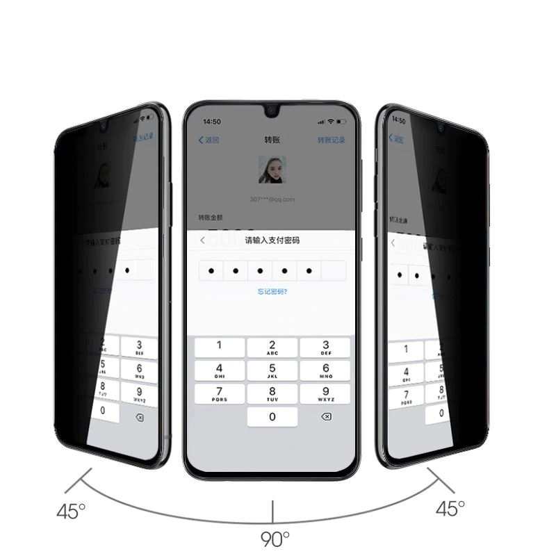 A81 A815F ( Note 10 Lite ) Privacy 5D ( Hayalet ) Temperli Ekran Koruyucu