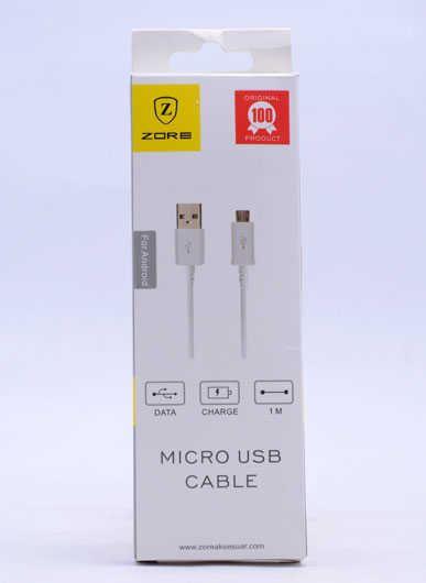 Micro ZORE SİLVER USB CABLE Z01