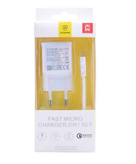 Micro ZORE FAST ŞARJ ALETİ 2000 mAh ( 2 IN 1 ) Z14