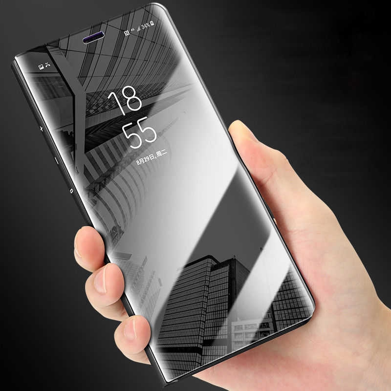 N950 Note 8 CLEAR VİEW ORJİNAL IC'Lİ FLİP WALLET
