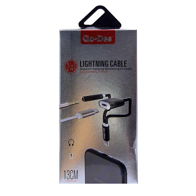 Go-Des GDUC08 2 in 1 Lightning Kulaklık Ve Şarj Dönüştürücü Connector