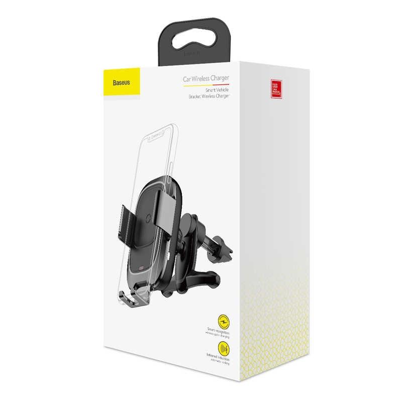 Baseus Smart Vehicle Bracket Wireless Charger Black WXZN-01