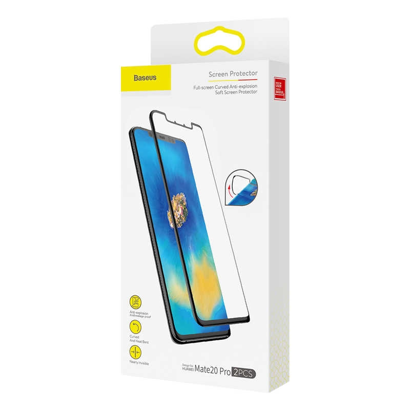 Baseus 0.15mm full-screen curved anti-explosion, Mate20 PRO Black SGHWMATE20P-KR01