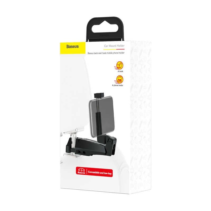 Baseus SUHZ-A01 Backseat vehicle phone holder hook Black