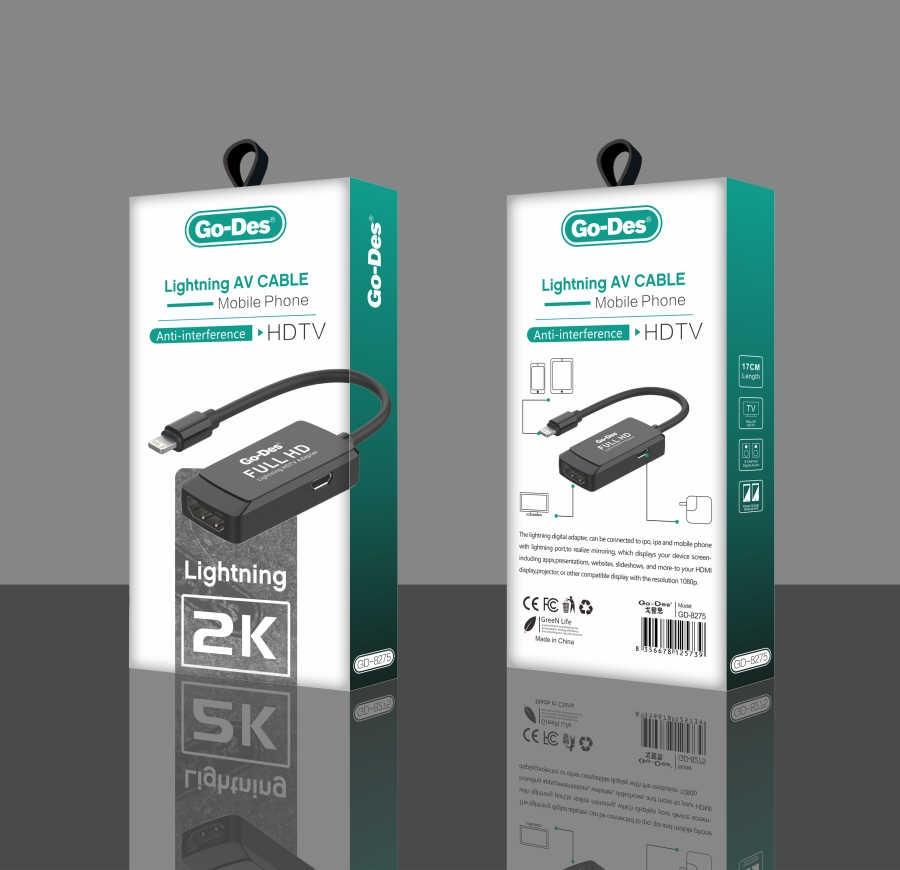 Go-Des GD-8275 2K Lightning AV Cable