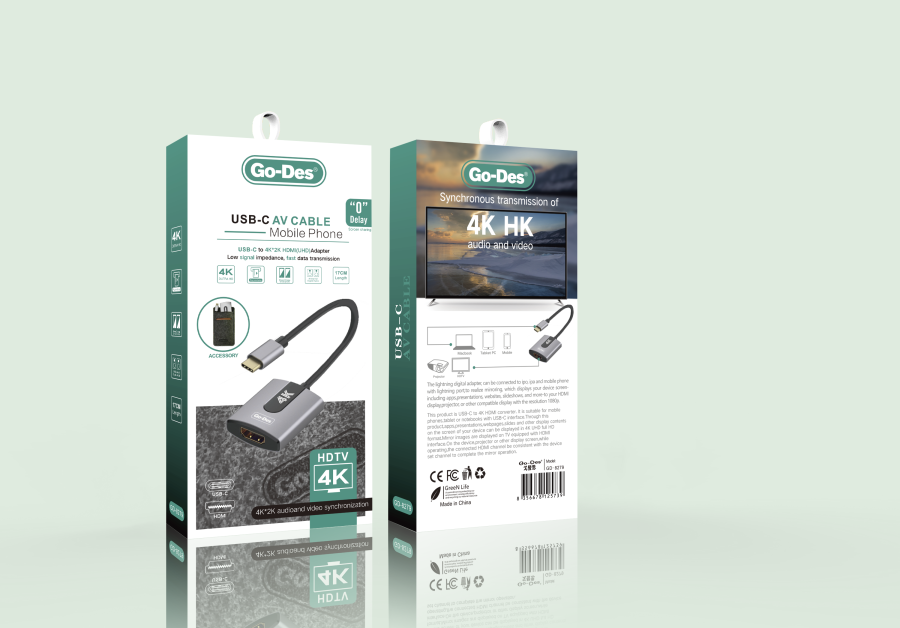 Go-Des GD-8279 TYPE-C USB TO 4K HDMI (UHD) ADAPTER