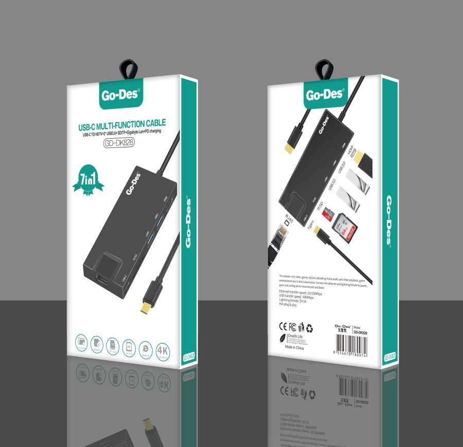 Go-Des GD-DK828 USB-C MULTI-FUNCTION CABLE