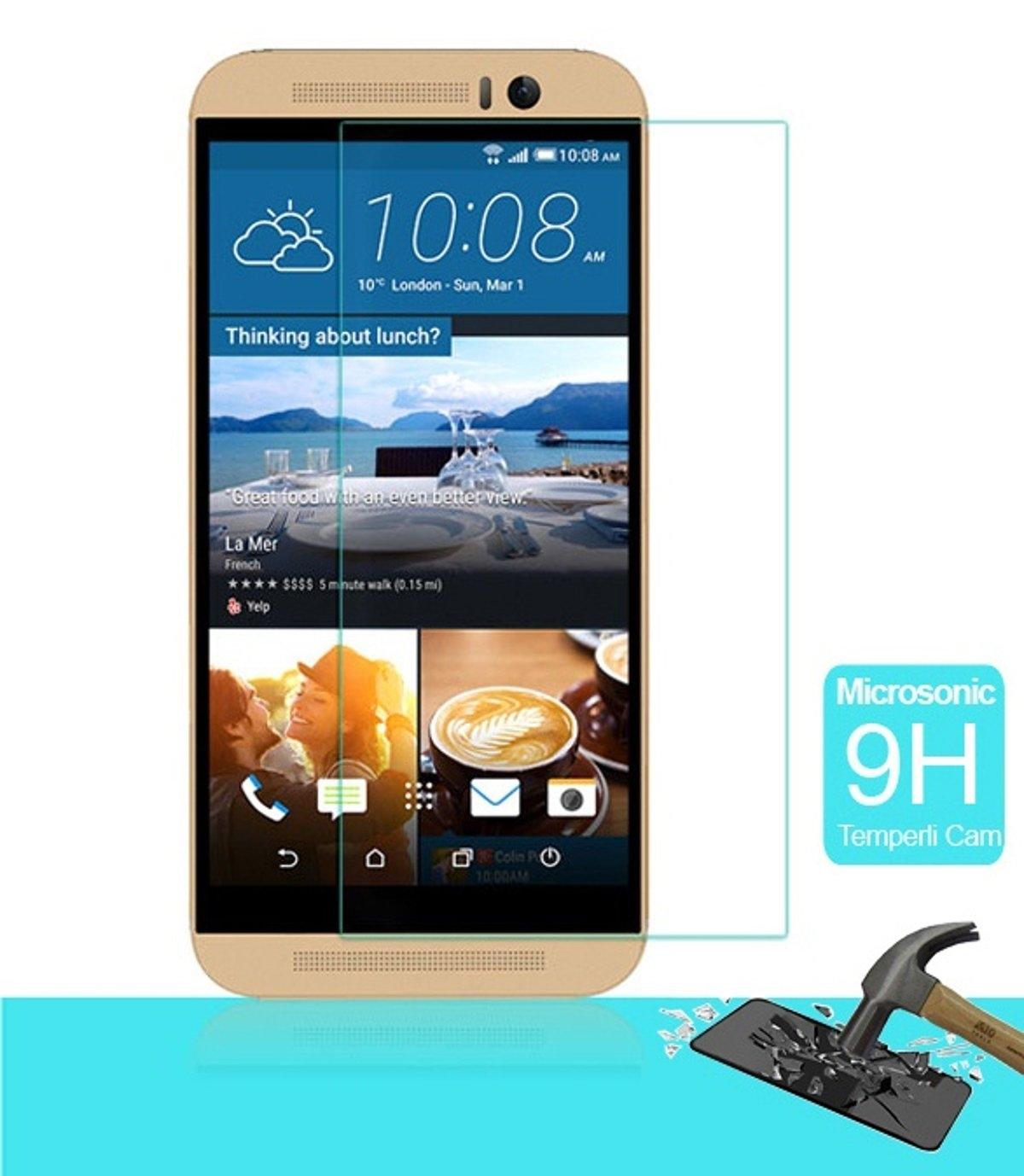 HTC ONE M9 Temperli Cam Ekran Koruycu