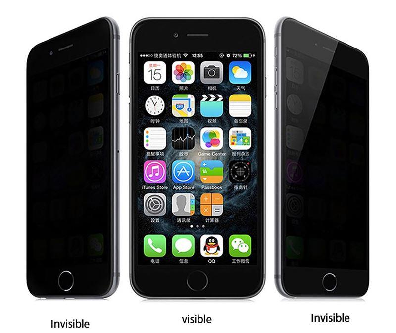 iPhone 8 Kor Privacy Ekran Koruyucu ( Hayalet Cam )