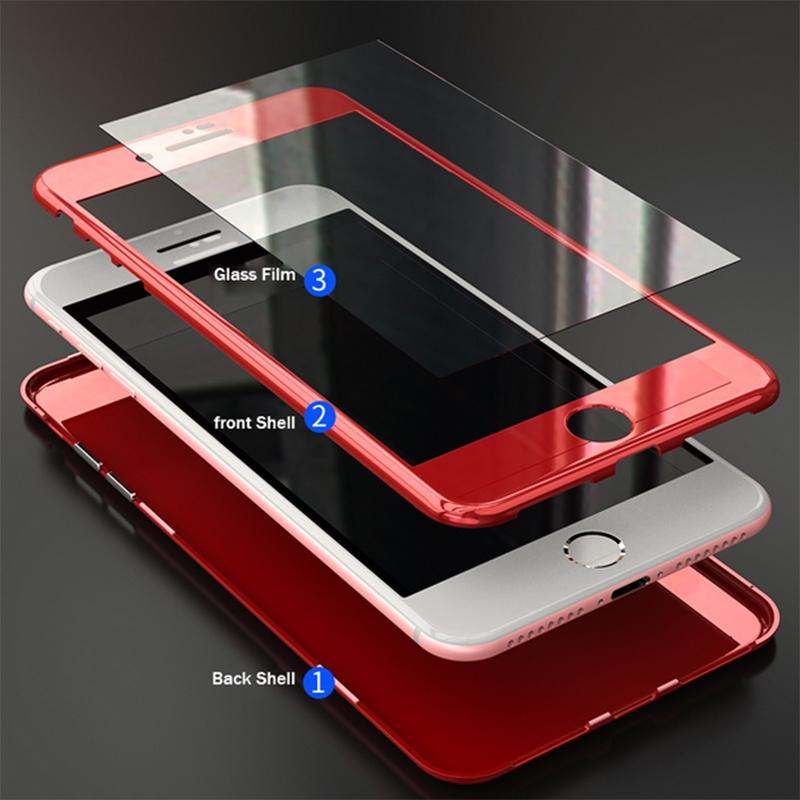 iPhone 8 VOERO DESENLİ 360 MAGNET KAPAK