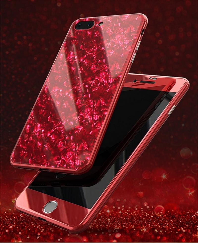 iPhone 8 Plus VOERO DESENLİ 360 MAGNET KAPAK