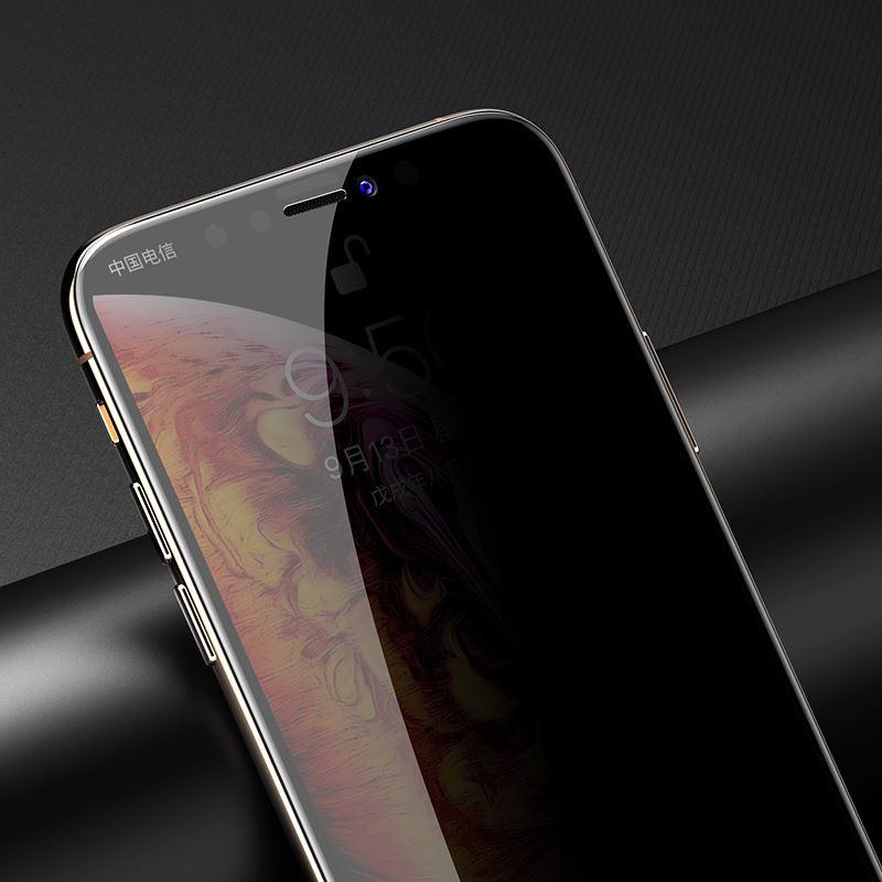 iPhone 11 Pro Max Kor Privacy Ekran Koruyucu ( Hayalet Cam )