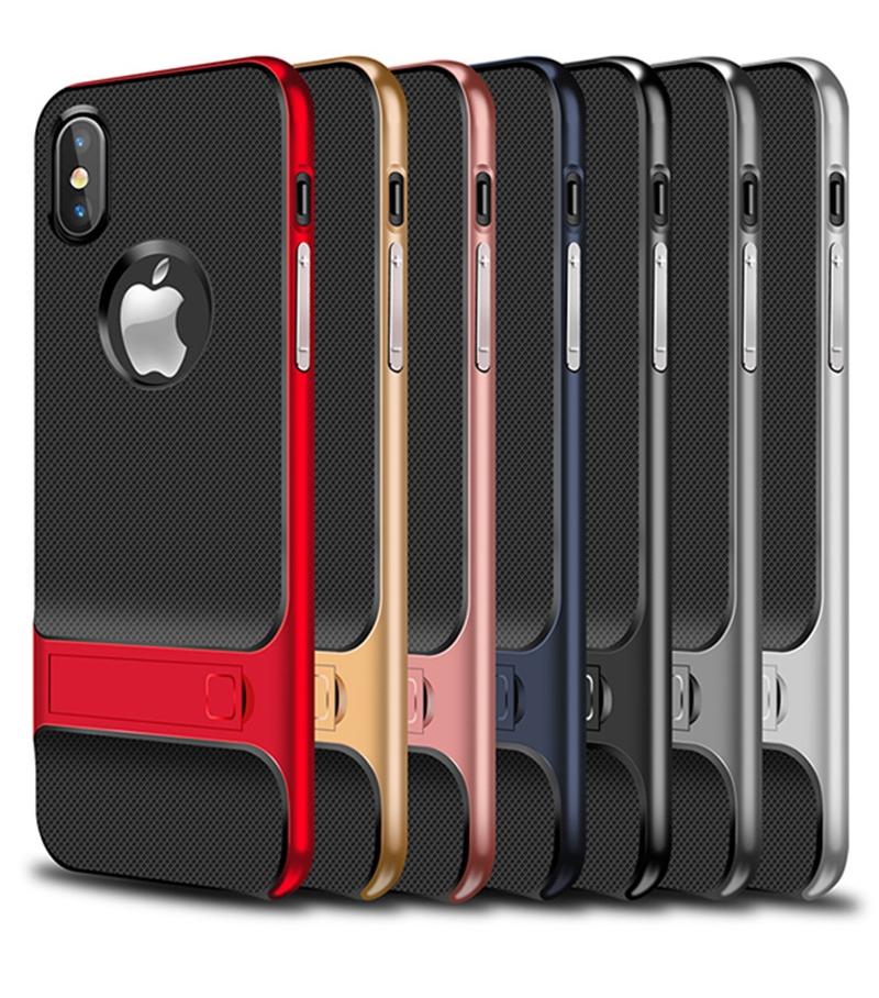iPhone X Verus Standlı Silikon Koruma