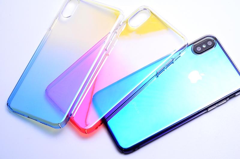 iPhone XS RENKLİ TRANSPARAN ARKA KAPAK