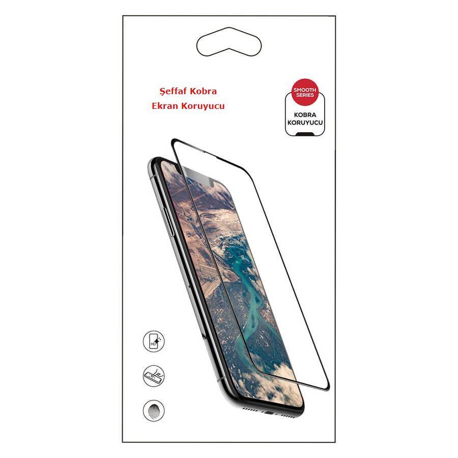 iPhone XS Max Şeffaf Kobra Ekran Koruyucu