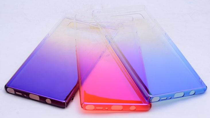 N960 Note 9 RENKLİ TRANSPARAN ARKA KAPAK