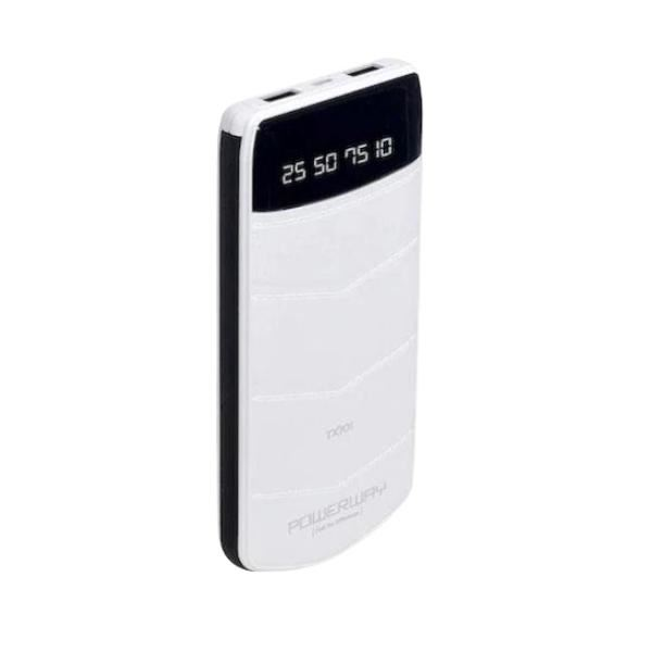 POWERWAY TX101 10.000 mAh Powerbank 2 X USB OUTPUT PORTABLE CHARGER