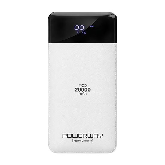 POWERWAY TX20 20.000 mAh Powerbank 2 X USB OUTPUT PORTABLE CHARGER